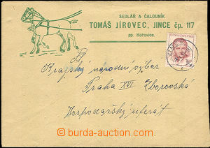 36250 - 1952 envelope with additional-printing T.Jírovec sedlář a