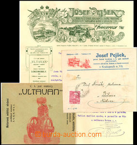 36251 - 1910 2 varieties advertising envelopes and heading paper fir