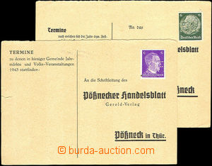 36277 - 1942-43 2 pcs of Un response cards with 6Pf Hindenburg and 6