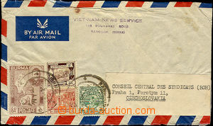 36291 - 1949 Let-dopis do ČSR, vyfr. zn. Mi.90, 106, 111, 104, DR Ra