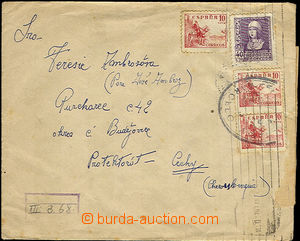 36306 - 1940 Spain - letter sent to B + M  from the hospital in Barc