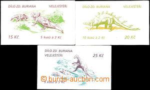36309 - 1994 3ks ZS20, 21, 22, Dílo Zdeňka Buriana - Veleještěř