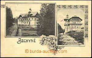 36328 - 1907 Bechyně - Libušiny bath, villa Vojtěška, Us, fold a