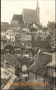 36329 - 1928 Český Krumlov - photo I. W., Malebný motive, view of