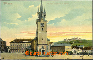 36333 - 1910 Příbram - Main square with church St. Jacob, Un, smal