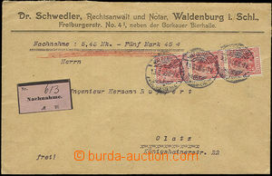 36334 - 1906 commercial letter sent as C.O.D. Nachnahme, with 3x 10P