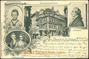 36336 - 1901 Johann W. Goethe - stay in Leipzig (Leipzig), poet's lo