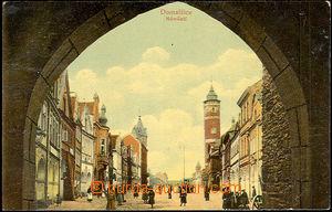 36338 - 1909 Domažlice - náměstí, nakladatel Karel Hötzl, proš