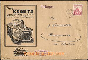 36346 - 1941 obálka s přítiskem firmy Jhagee kamerwerk Dresden s