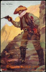 36354 - 1907 USA - 2 pieces, motives from Wild West - cowboyové, pa
