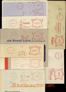 36364 - 1940-41 comp. 8 pcs of entires with meter stmp, RM Issa Prag