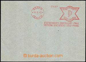 36368 - 1945 Ústřední statistický úřad Praha P, otisk orážec