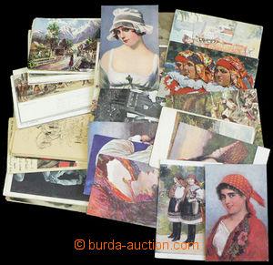 36370 -  sestava 66 kusů pohlednic převážně uměleckých (Aleš