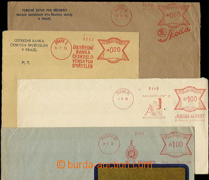 36374 - 1939 comp. 4 pcs of envelopes with forerunner Czechosl. mete