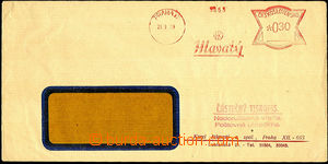 36379 - 1939 forerunner meter stmp as partial tiskopis(!), Hlavatý,