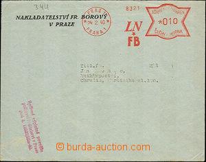 36380 - 1940 OVS jako Obchodní tiskopis(!), Fr. Borový, Praha 1/ 24.