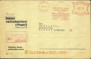 36383 - 1939 meter stmp as commercial printed matter, Příruční d