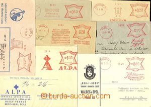 36395 - 1930-33 comp. 7 pcs of letters franked by meter stmp. with a