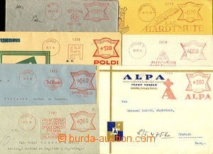36400 - 1929-34 comp. 8 pcs of letters franked by meter stmp. with a