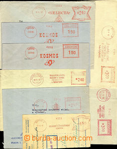 36401 - 1945-49 comp. 8 pcs of letter franked by meter stmp. , Comme