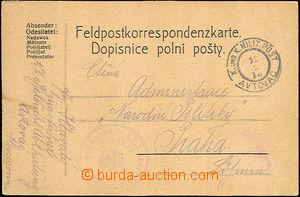 36413 - 1916 K.u.K Milit. Post AVTOVAC 12/2 16 postmark on FP card s
