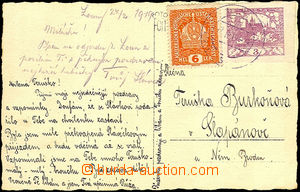 36416 - 1919 postcard franked with. mixed franking Austrian stamp. 6