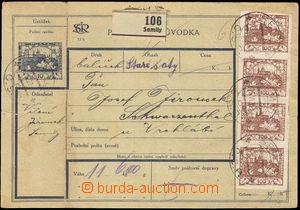 36455 - 1920 CPP2A celá pošt. průvodka s dofr. 4-páskou Pof.20,