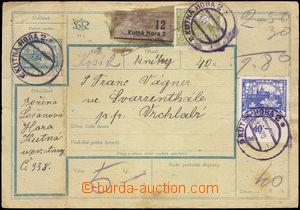 36456 - 1920 CPP3A celá pošt. průvodka s dofrankováním zn. Pof.