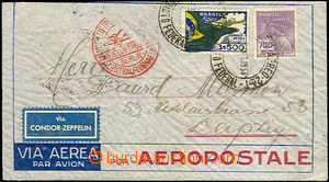 36466 - 1933 BRAZIL  letter to Germany, CDS from 5.Okt.33, on revers