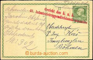 36478 - 1915 II.díl z dvojité dopisnice zaslané přes FP 303/ 30.I.15