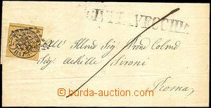 36480 - 1854 folded letter with Mi.4, 3Baj, addressed to to Rome, su