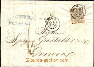 36481 - 1854 folded letter with 5Baj, Mi.6, CDS Roma 21/Gan 54, oval
