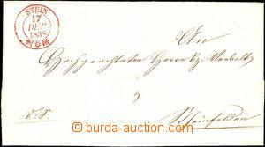 36493 - 1838 skládaný dopis s červeným luxusním razítkem STEIN