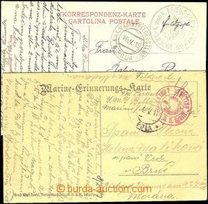 36499 - 1915-17 S.M. Schif Adria + S.M. Schif Belona, zelené a červe