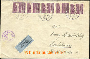 36546 - 1939 air-mail letter sent from Prague 21.VI.39 to Carlsbad,