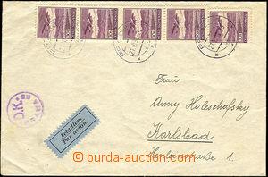 36546 - 1939 letecký dopis zaslaný z Prahy 21.VI.39 do Karlových Var