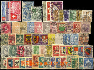 36565 - 1850-1940 comp. of stamps on card A5, Helvetie, Pro Juventut
