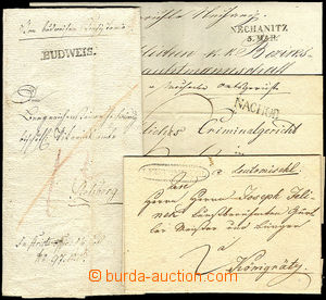 36600 - 1823-80 sestava 4ks skládaných dopisů s pěknými razítk