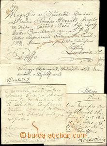 36601 - 1793-1823 sestava 9ks skládaných dopisů z území Slovens