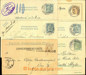 36607 - 1888-1906 comp. 6 pcs of cards and PC with railway pmk., i.a