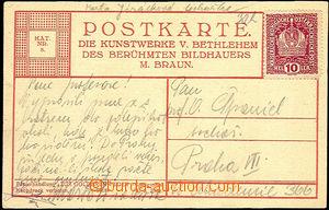 36612 - 1915 JIRÁSKOVÁ Marta, sochařka, pohlednice s podpisem adreso