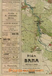 36618 - 1922 Map of BRNO 1:11520 edition REKLAM, supplemented with a