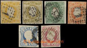 36634 - 1856-66 sestava 6ks zn. Mi.10, 14, 18, 19, 21, 22 (těsný stř