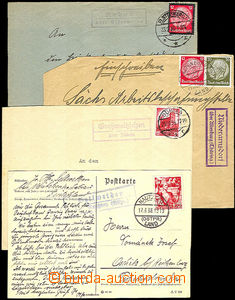 36644 - 1934-38 GERMANY  comp. 4 pcs of letters with postal agency p