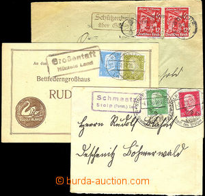 36649 - 1930-35 GERMANY  comp. 3 pcs of letters with nice pmk postal