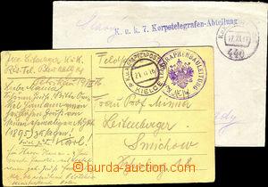 36651 - 1916-17 KuK 7.Korpstelegrafen - Abtelilung straight line pos