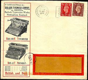36665 - 1938 GREAT BRITAIN  firm vyrábějící typewriters Cash Loc