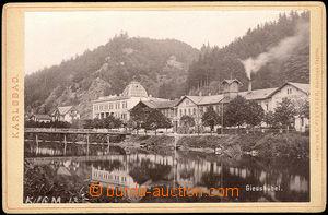 36683 - 1895 KARLSBAD  Giesshübel, stáčírna minerálky Mattoni, desko