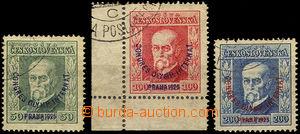 36685 - 1925 Pof.180-2 Kongres, lehká razítka, zahnědlý papír,