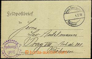 36689 - 1918 I. světová válka - zálepka FP s kruhovým fialovým